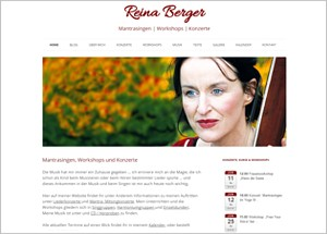 Reina Berger •  Mantrasingen, Workshops & Konzerte